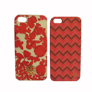 Tory Burch Iphone 5 Set Case Orange Multi
